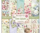 Scrapbooking e papel cartão: alfabeto flor