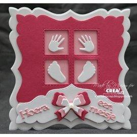 CREATIVE EXPRESSIONS und COUTURE CREATIONS Stanzschablone, 4 Vierecke mit Stitchlinien