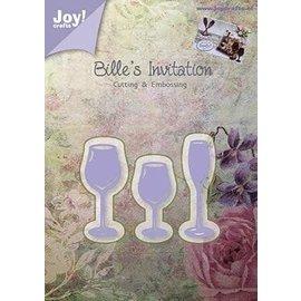 Joy!Crafts / Jeanine´s Art, Hobby Solutions Dies /  Glæde! Håndværk, skæring og prægning skabelon: 3 drikkeglas