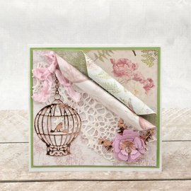 CREATIVE EXPRESSIONS und COUTURE CREATIONS Alegria! Artesanato, corte e estampagem modelo: gaiola de pássaro