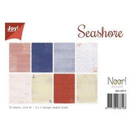 """Joy!Crafts / Jeanine´s Art, Hobby Solutions Dies /  Papir sæt A4, """"Seashore"""""""
