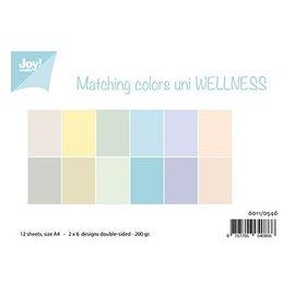 Joy!Crafts / Jeanine´s Art, Hobby Solutions Dies /  Papier Set A4,  Passende Farben uni