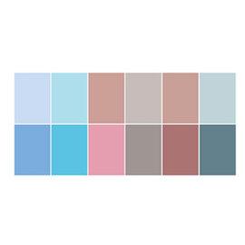 Joy!Crafts / Jeanine´s Art, Hobby Solutions Dies /  Conjunto de papel A4, combinando cores uni