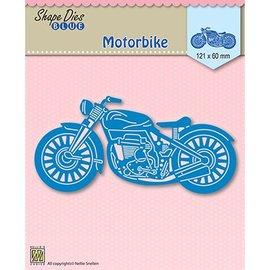 Nellie Snellen skæring og prægning skabelon: motorcykel