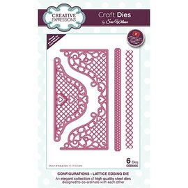 CREATIVE EXPRESSIONS und COUTURE CREATIONS Joy! Crafts, cutting and embossing template: Lattice Envelope Edger