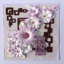 Leane Creatief - Lea'bilities Snij-en embossing Sjablonen / Mallen bloemen