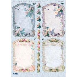 Bilder, 3D Bilder und ausgestanzte Teile usw... Gestanst, frame Vintage Roses