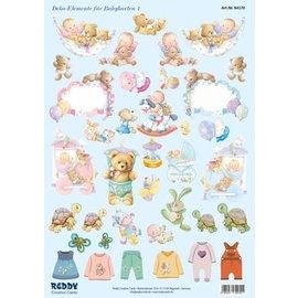 Bilder, 3D Bilder und ausgestanzte Teile usw... Feuille de poinçonnage, accessoires pour bébé
