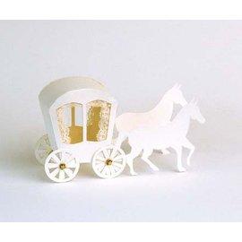 Bilder, 3D Bilder und ausgestanzte Teile usw... Stanzbogen Kutsche A4 Bogen 240g Karton