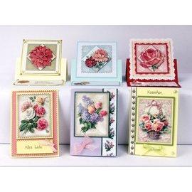 Bilder, 3D Bilder und ausgestanzte Teile usw... Folha de perfuração 3D conjunto esplendor da flor