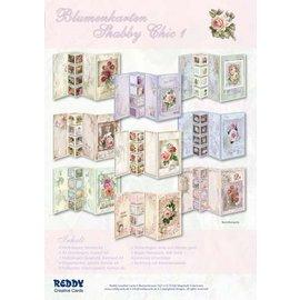 Bilder, 3D Bilder und ausgestanzte Teile usw... Set Blumenkarten Shabby Chic, zur Gestaltung von 9 Faltkarten!