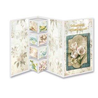 Bilder, 3D Bilder und ausgestanzte Teile usw... Conjunto de cartões florais Shabby Chic, para projetar 9 cartões dobráveis!