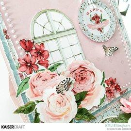 Kaisercraft und K&Company Kaisercraft dekorative stempling skabelon, Rose Avenue
