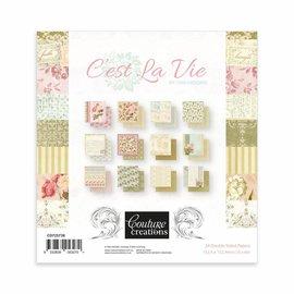 """Couture Creations Blocco di carta, 15,2 x 15,2 cm, """"C'est la vie"""""""