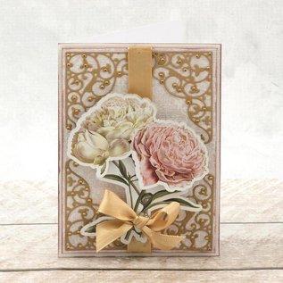 """Bilder, 3D Bilder und ausgestanzte Teile usw... A4 Decoupage Bow, Rosas Vintage, """"C'est La Vie"""""""