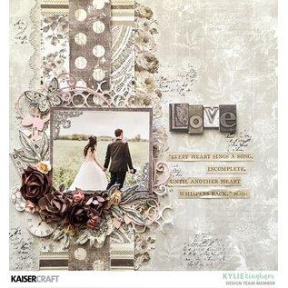 """Kaisercraft und K&Company Cartões e papel para scrapbooking, """"Romantique"""", 30,5 x 30,5 cm"""