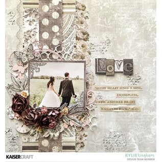 "Kaisercraft und K&Company Kort og scrapbogpapir, ""Romantique"", 30,5 x 30,5 cm"