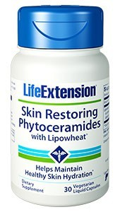 Life Extension Skin Restoring Phytoceramides with Lipowheat®
