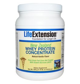 Life Extension New Zealand Whey Protein Concentrate Natural Vanilla Flavor