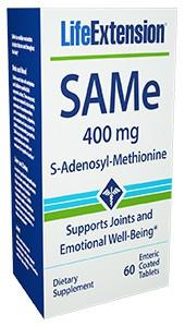 Life Extension SAMe (S-Adenosyl-Methionine) 400 mg