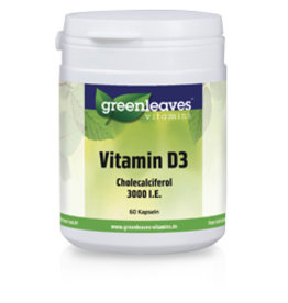 Greenleaves vitamins Vitamin D3 3000 I.e., 75 Mcg