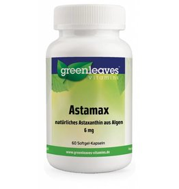 Greenleaves vitamins Astamax (astaxanthine) 6mg