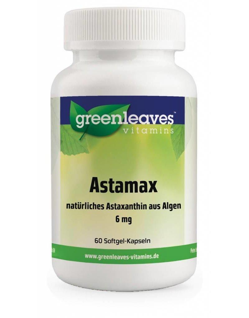 Greenleaves vitamins Astamax (astaxanthine) 6mg