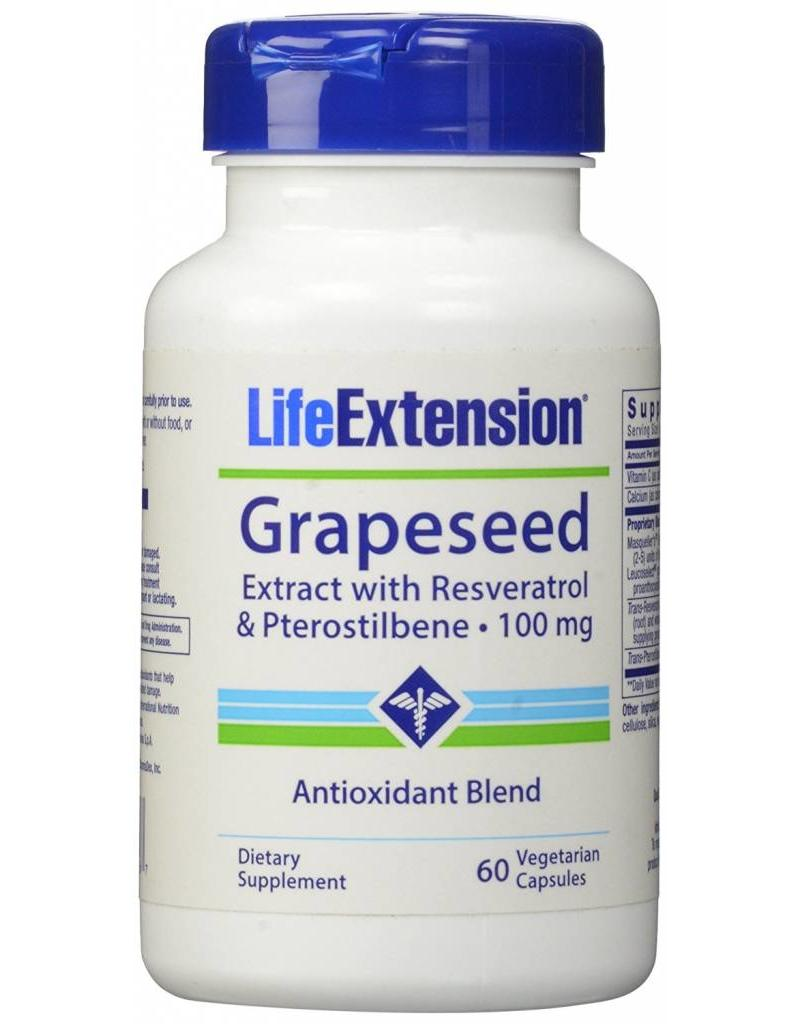 Life Extension Grapeseed Extract with Resveratrol & Pterostilbene 100 mg 60 vegetarian capsules