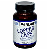 Twinlab Copper Caps, 2mg, 100 Capsules