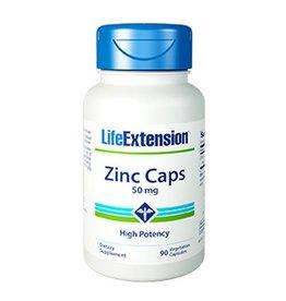 Life Extension Zinc Caps High Potency, 50 Mg 90 Vegetarian Capsules