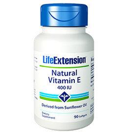 Life Extension Natural Vitamin E, 400 Iu 90 Softgels