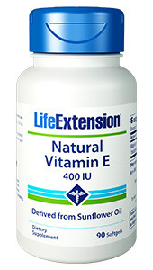 Life Extension Natural Vitamin E, 400 Iu 90 Softgels