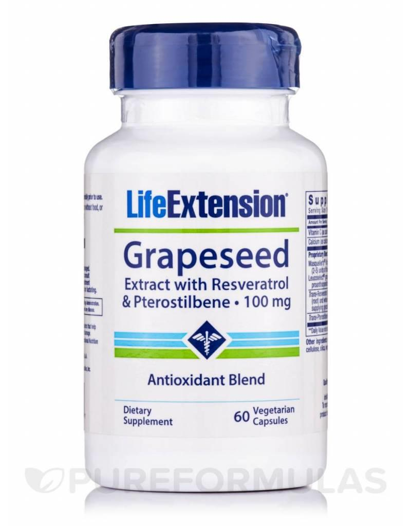 Life Extension Grapeseed Extract With Resveratrol & Pterostlbene