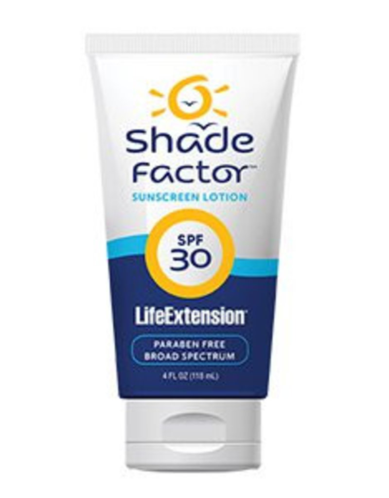 Life Extension Shade Factor Sunscreen Lotion Spf 30