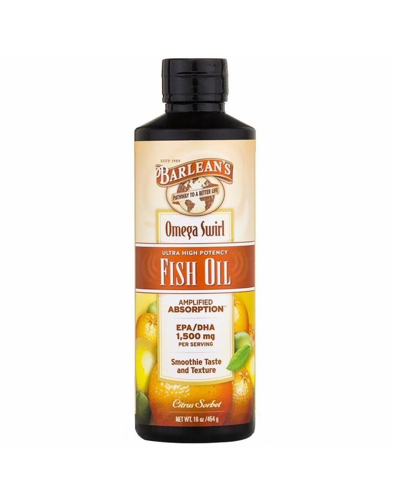 Barlean's Omega Swirl, Ultra High Potency Fish Oil, Citrus Sorbet