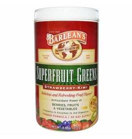 Barlean's Superfruit Greens Supplement, Powder Formula, Strawberry-kiwi
