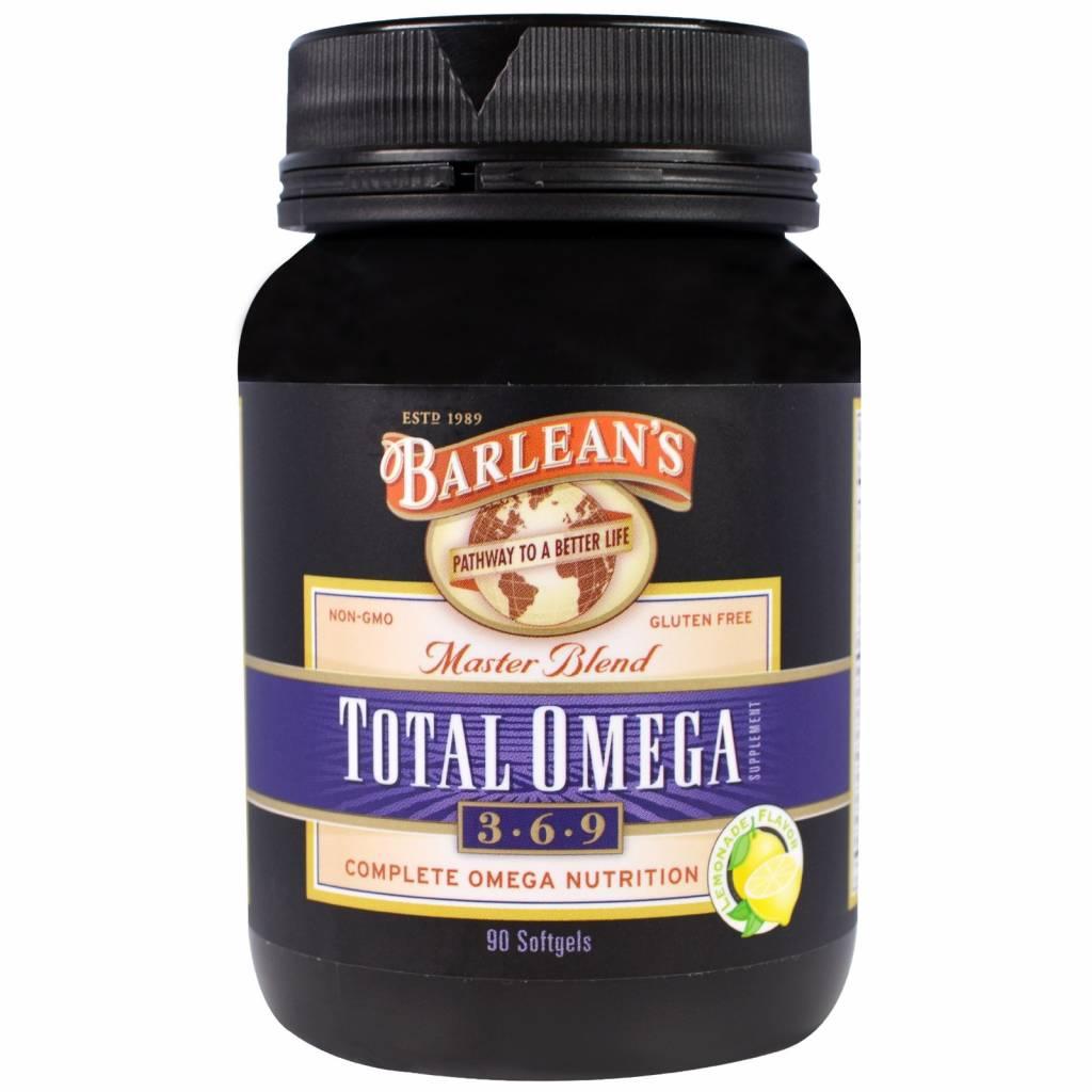 Barlean's Total Omega 3-6-9, Master Blend, Lemonade Flavor