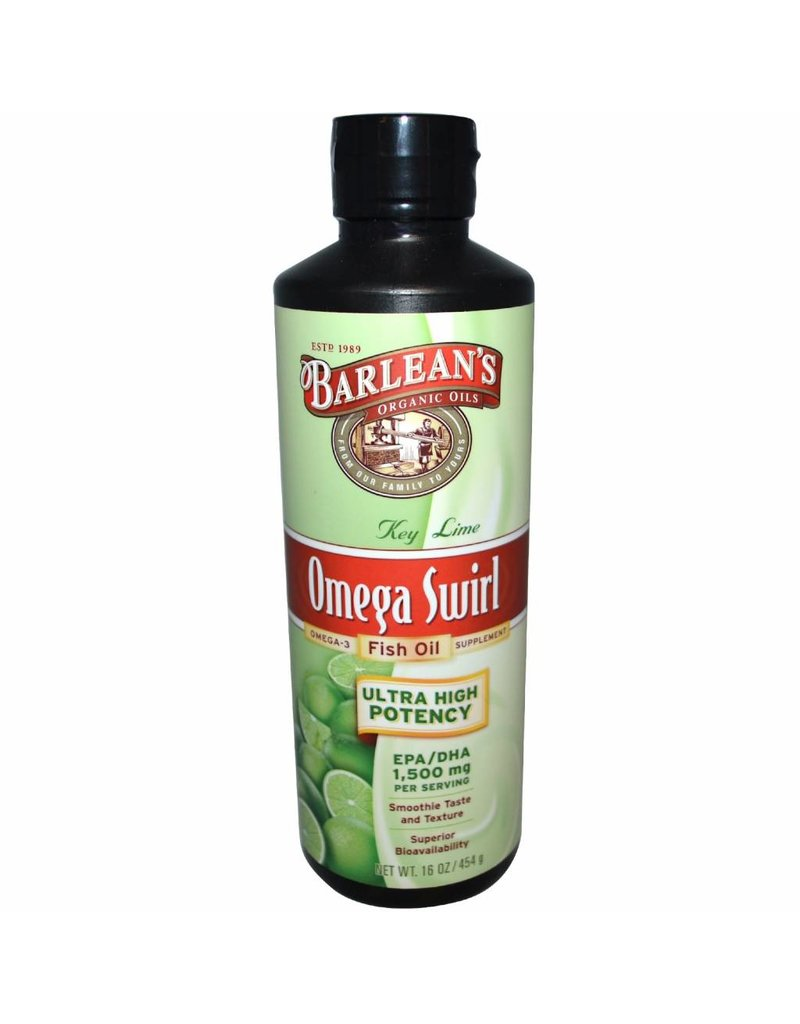 Barlean's Omega Swirl, Ultra High Potency Fish Oil, Key Lime