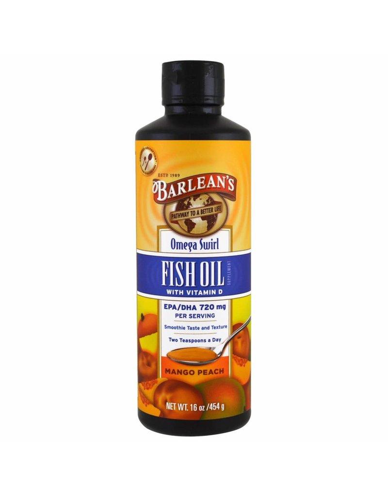 Barlean's Barlean's, Omega Swirl,fish Oil With Vitamin D Supplement, Mango Peach