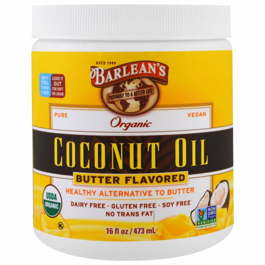 Barlean's Organic Coconut Oil, Butter Flavered