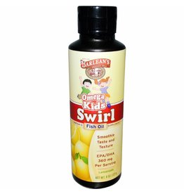 Barlean's Omega Kid's Swirl, Fish Oil, Lemonade