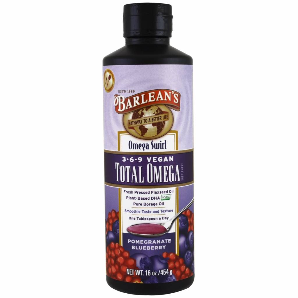 Barlean's Total Omega 3-6-9 Vegan, Pomegranate Blueberry