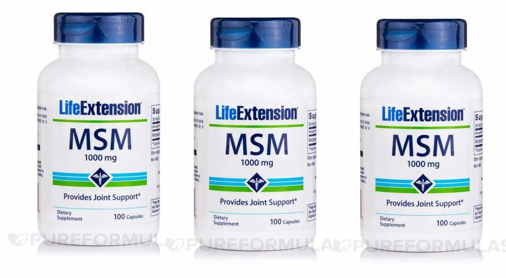 Life Extension MSM (methylsulfonylmethane), 3-pack