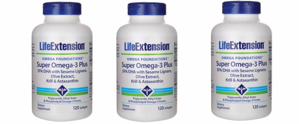 Life Extension Super Omega-3 Plus EPA/DHA With Sesame Lignans, Olive Extract, Krill & Astaxanthin, 3-pack