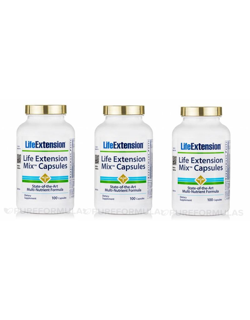 Life Extension Life Extension Mix 100 Capsules, 3-pack