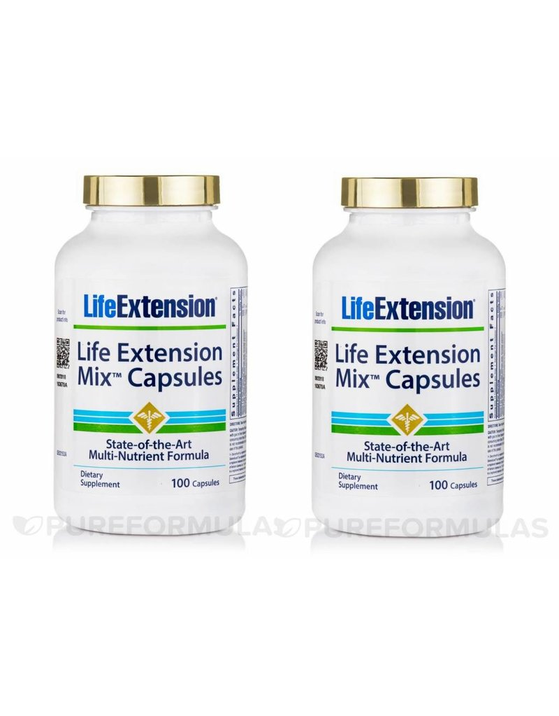 Life Extension Life Extension Mix 100 Capsules, 2-pack