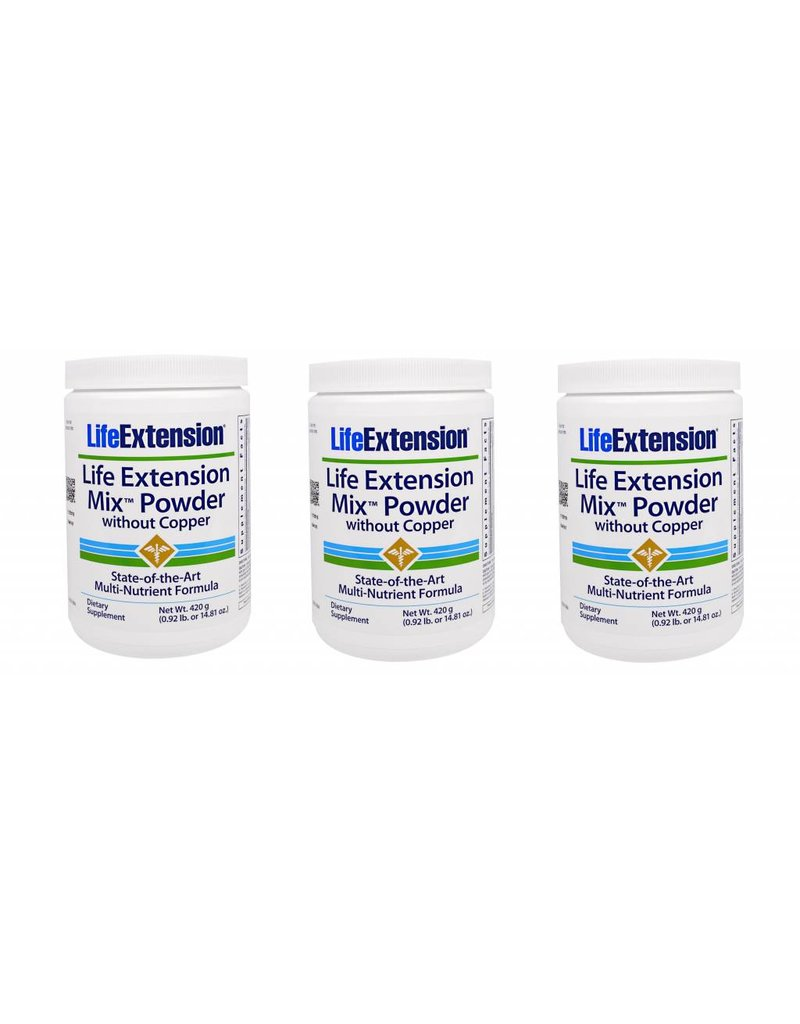 Life Extension Life Extension Mix Powder Without Copper, 3-pack