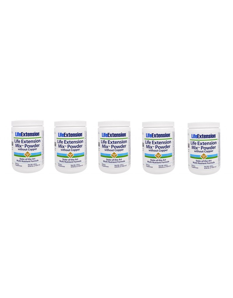 Life Extension Life Extension Mix Powder Without Copper, 5-pack