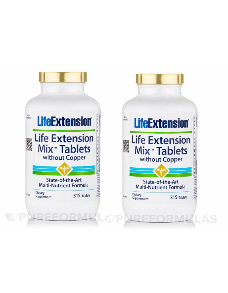 Life Extension Life Extension Mix Tablets Without Copper, 2-pack
