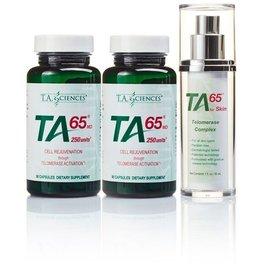 Life Extension TA-65 Starter Kit (2 x TA-65MD 250IE 90 capsules + 1 x TA-65 for Skin 30ml)